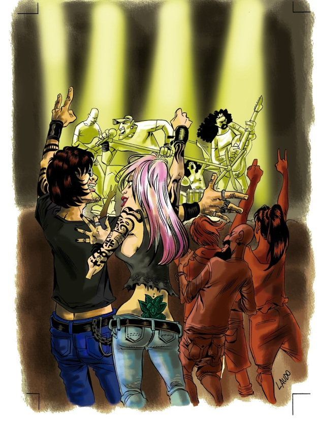 Cidade do Rock - 30 Anos de Rock em CarazinhoRS - Ilustração de Capa